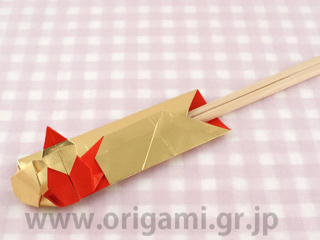 origami boat chopstick rest, folded out of a chopstick wrapper ... | 480x640